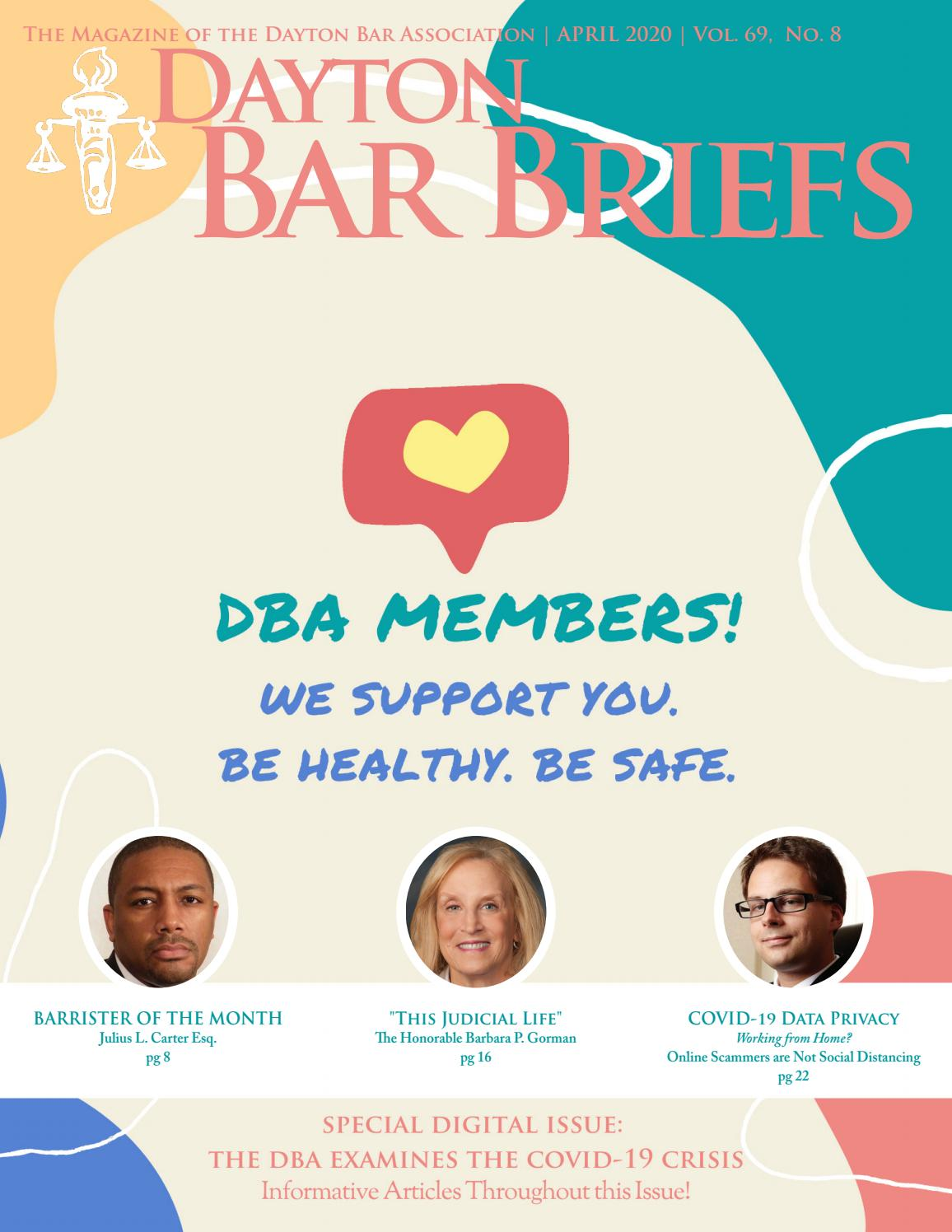 April 2020 Dayton Bar Briefs Magazine Digital Issue By Dayton Bar Association Issuu But anybody can say that. april 2020 dayton bar briefs magazine