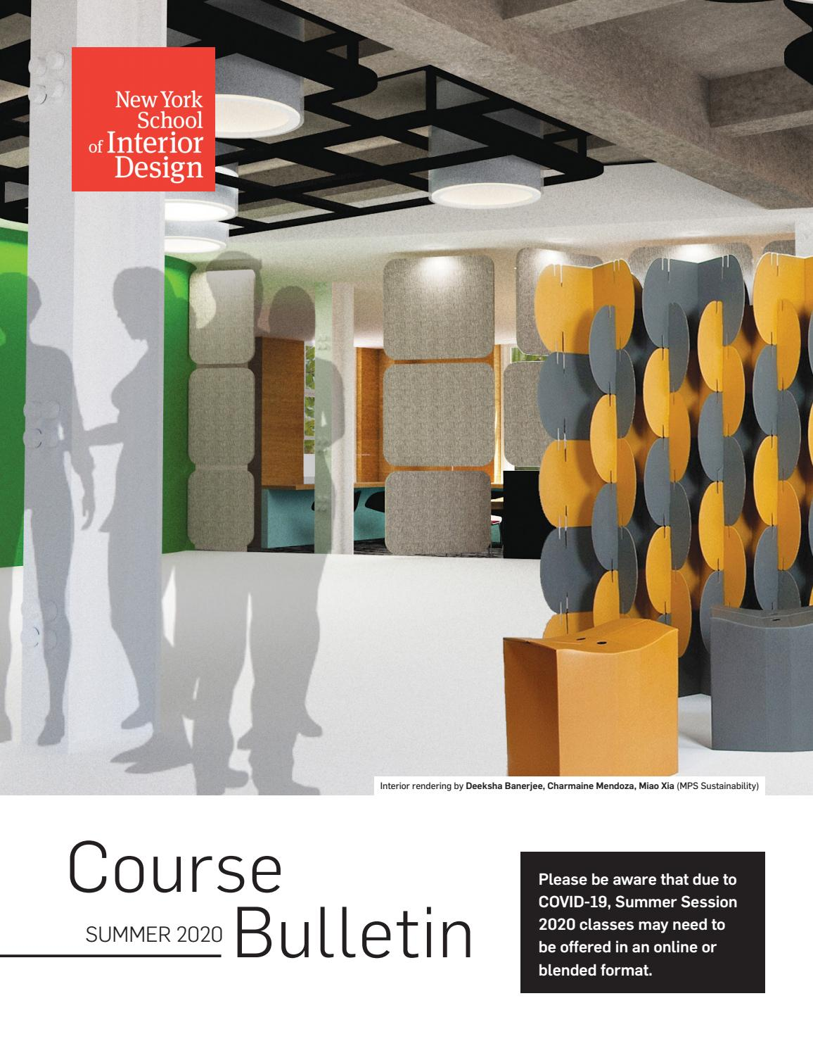 Summer 2020 Course Bulletin By New York School Of Interior Design Issuu