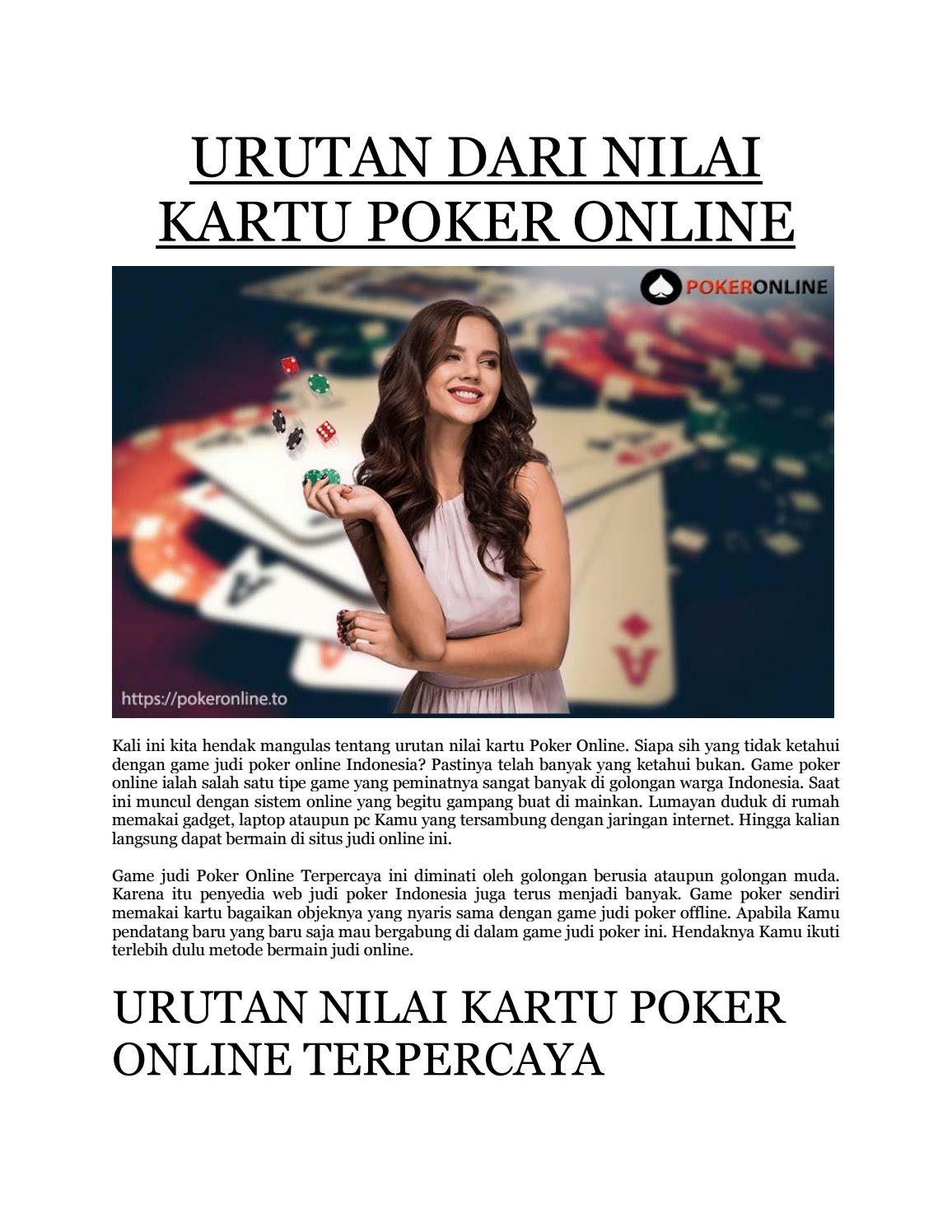 Urutan Dari Nilai Kartu Poker Online By Poker Online Issuu
