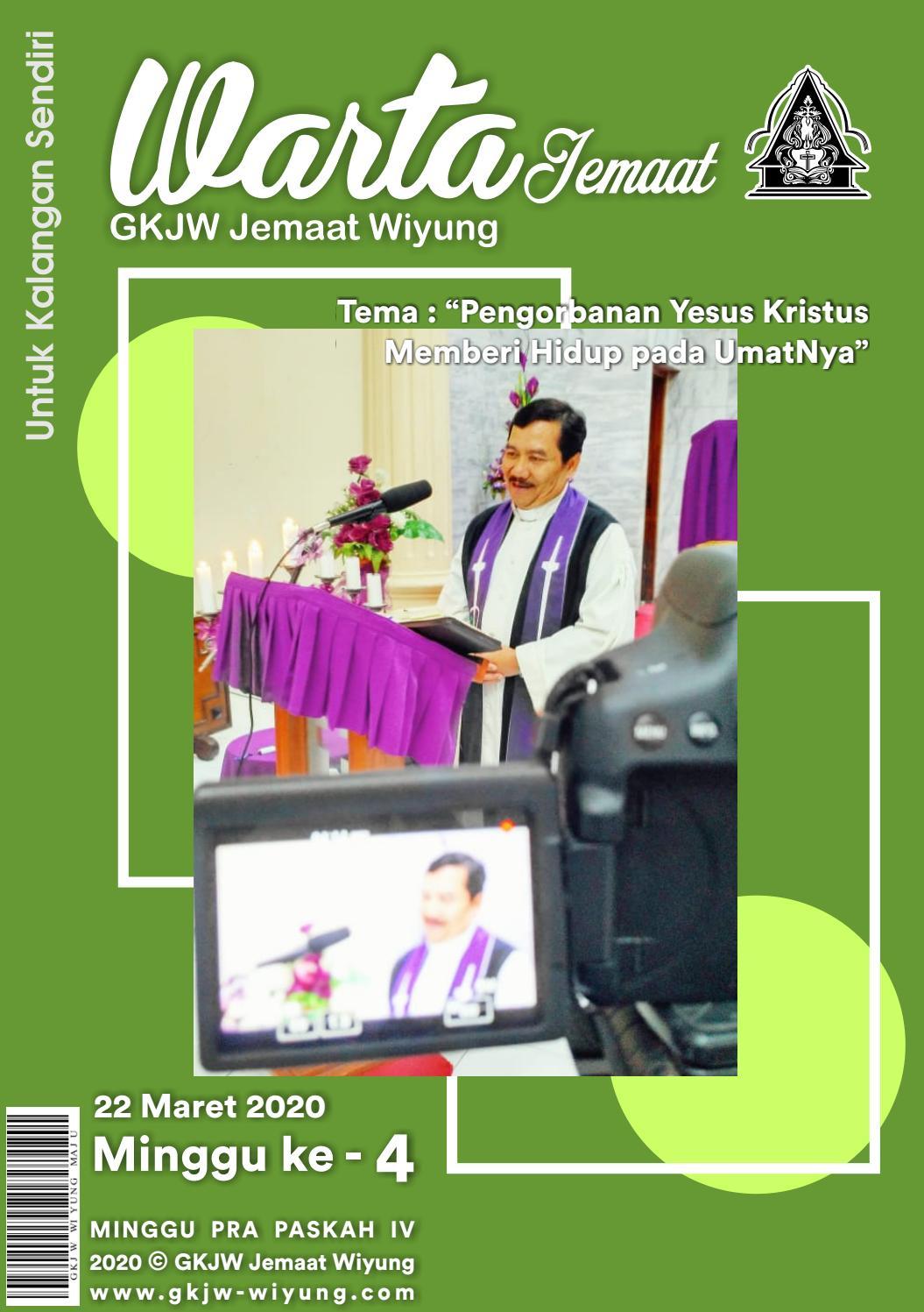 Warta Jemaat Gkjw Wiyung 22 Maret 2020 By Gkjw Wiyung Issuu