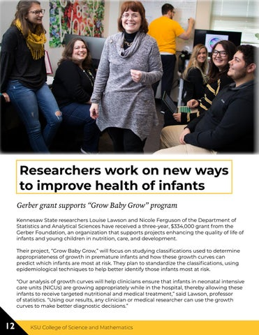 Page 12 of Researchers work on new ways to improve health of infants