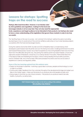 Page 15 of Lessons for startups: Spotting traps on the road to success