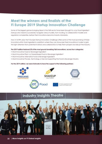 Page 22 of Meet the best innovations presented at the Fi Europe 2019 Startup Innovation Challenge