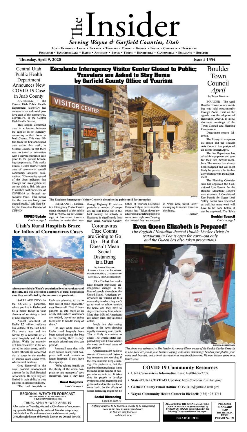 The Wayne Garfield County Insider April 9 2020 By Snapshot Multimedia Llc Issuu