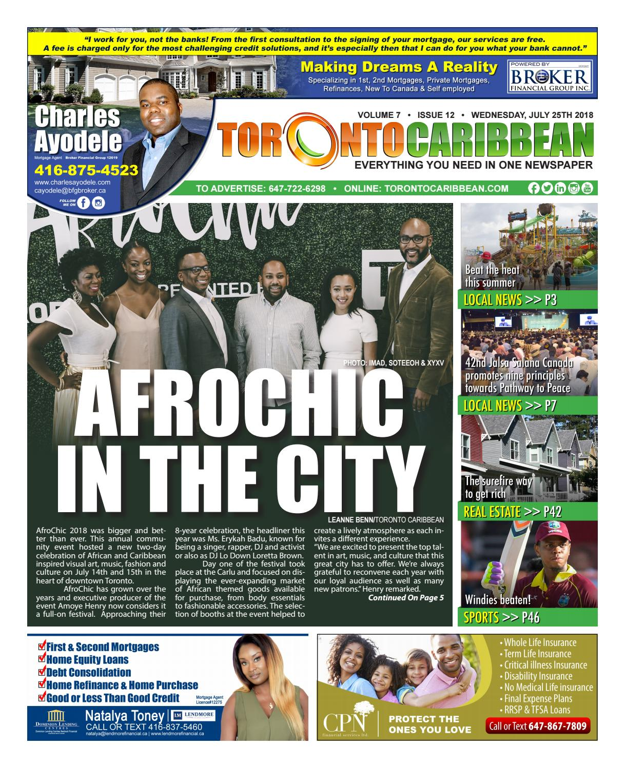 Afrochic In The City 072518 by Toronto Caribbean Newspaper - issuu