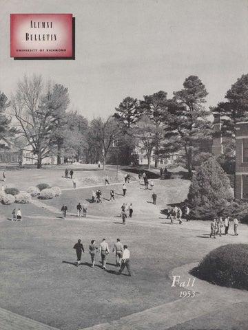 University Of Richmond Magazine Fall 1953 By Ur Scholarship Repository Issuu