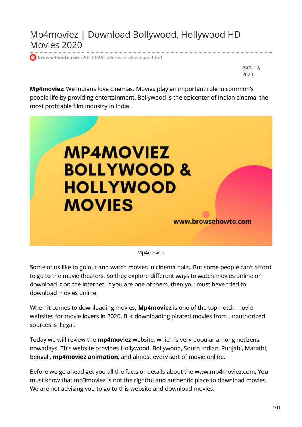 Mp4moviez | Download Bollywood, Hollywood HD Movies 2020 by Raja Kashyap -  issuu