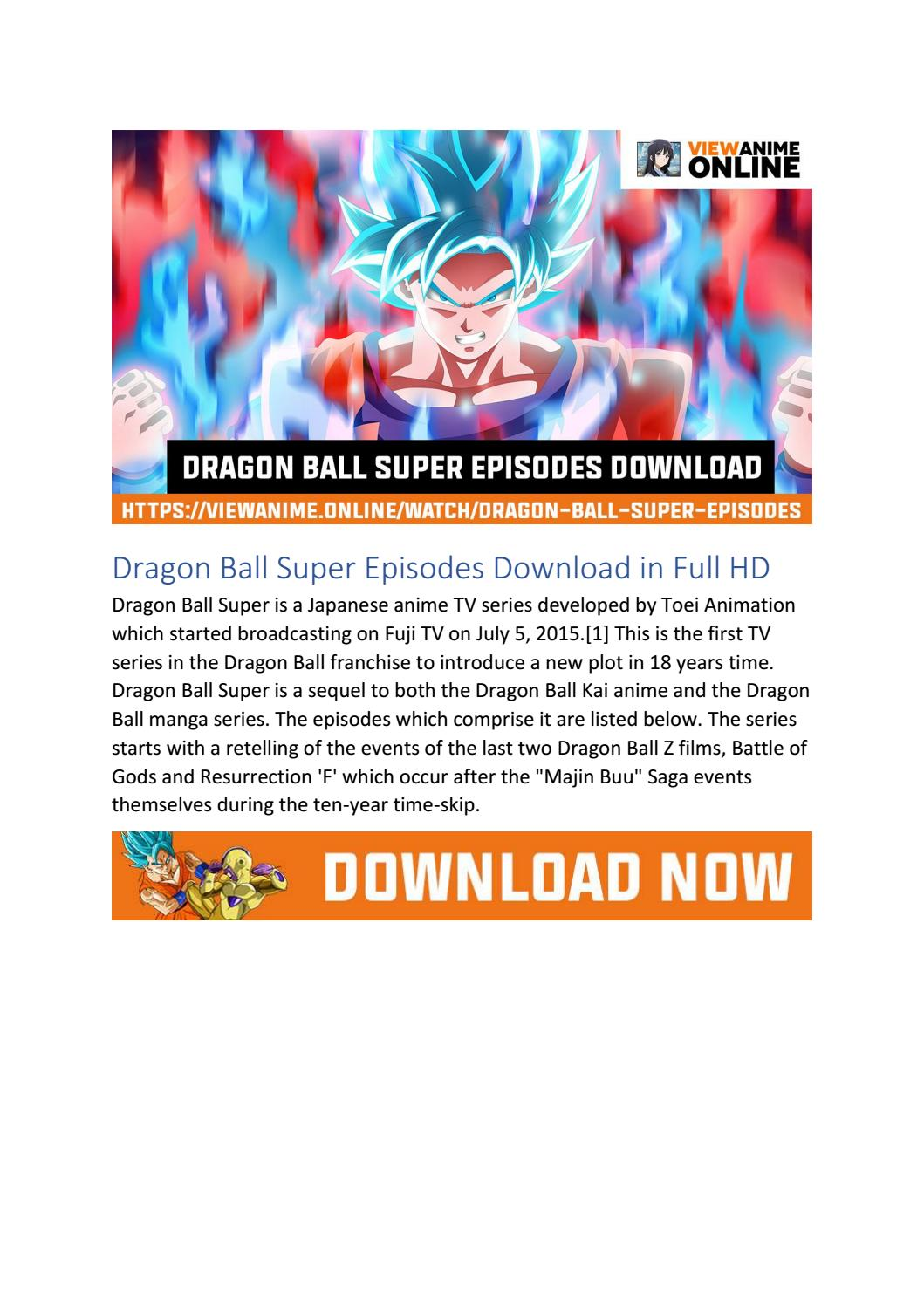 Free Dragon Ball Super Episodes Download In Full Hd By Cezar