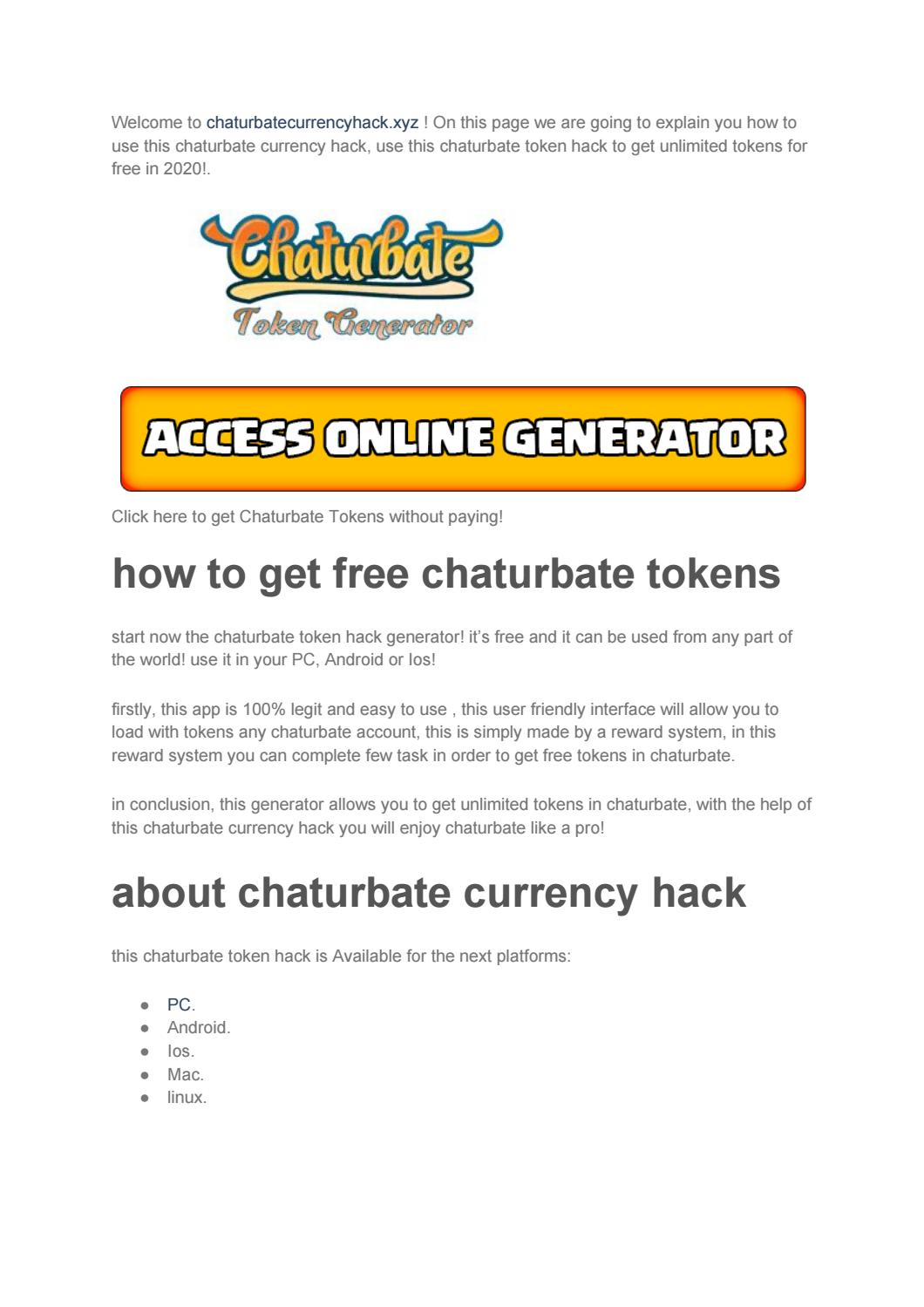 Chaturbate token currency value