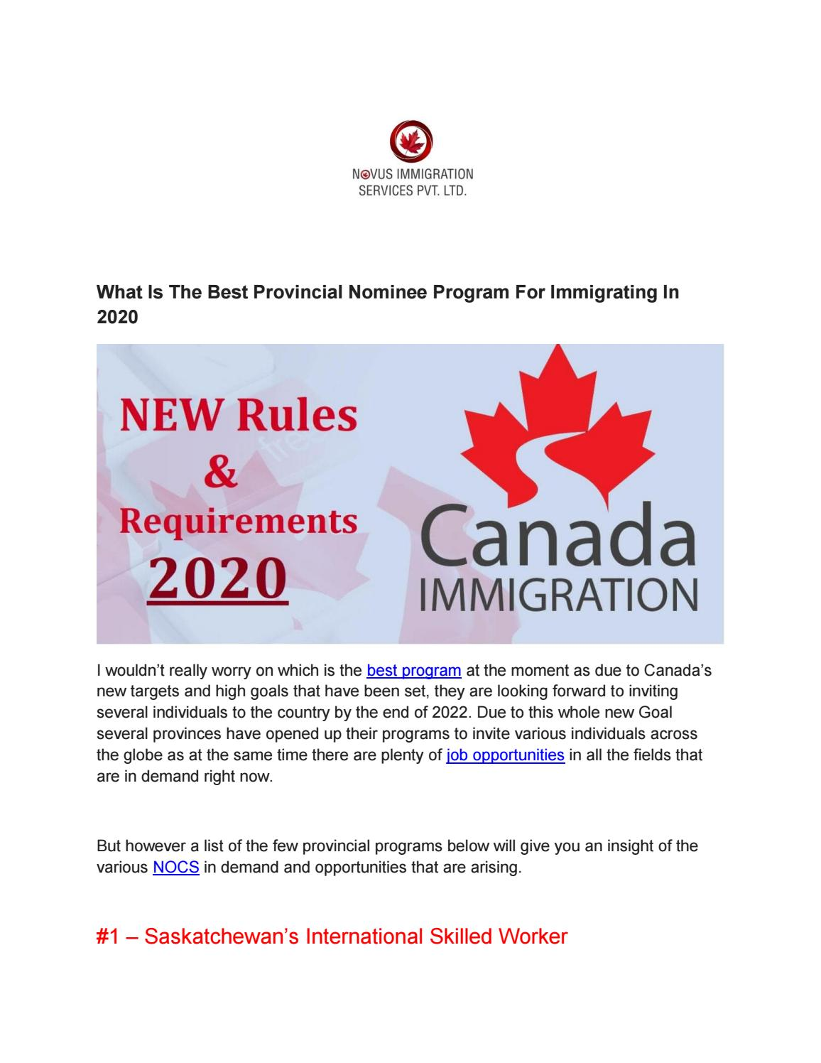 Canada Immigration Consultants In India By Novusimmigration Issuu