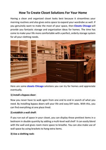 Page 1 of how to create chicago closet solutions any room of your house