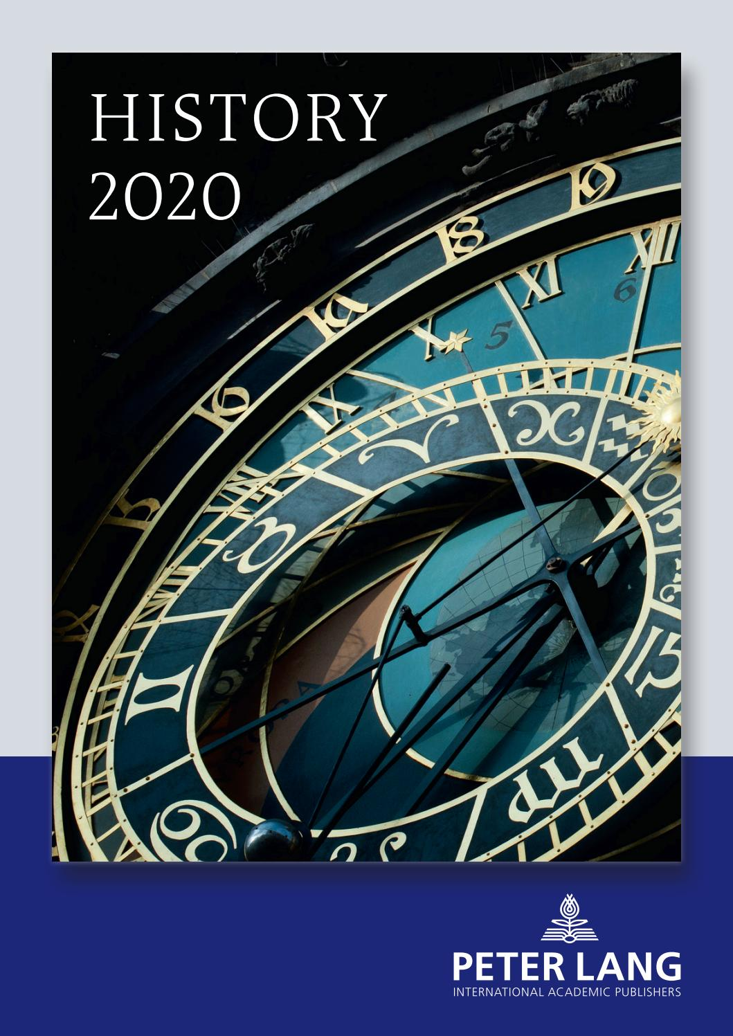 2020 History Catalog By Peter Lang Publishing Group Issuu