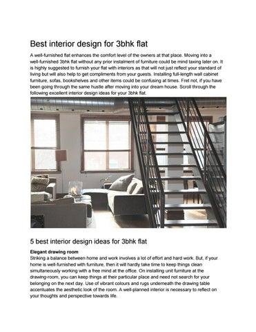 Best Interior Design For 3bhk Flat By Aditi Roy Shukla Issuu