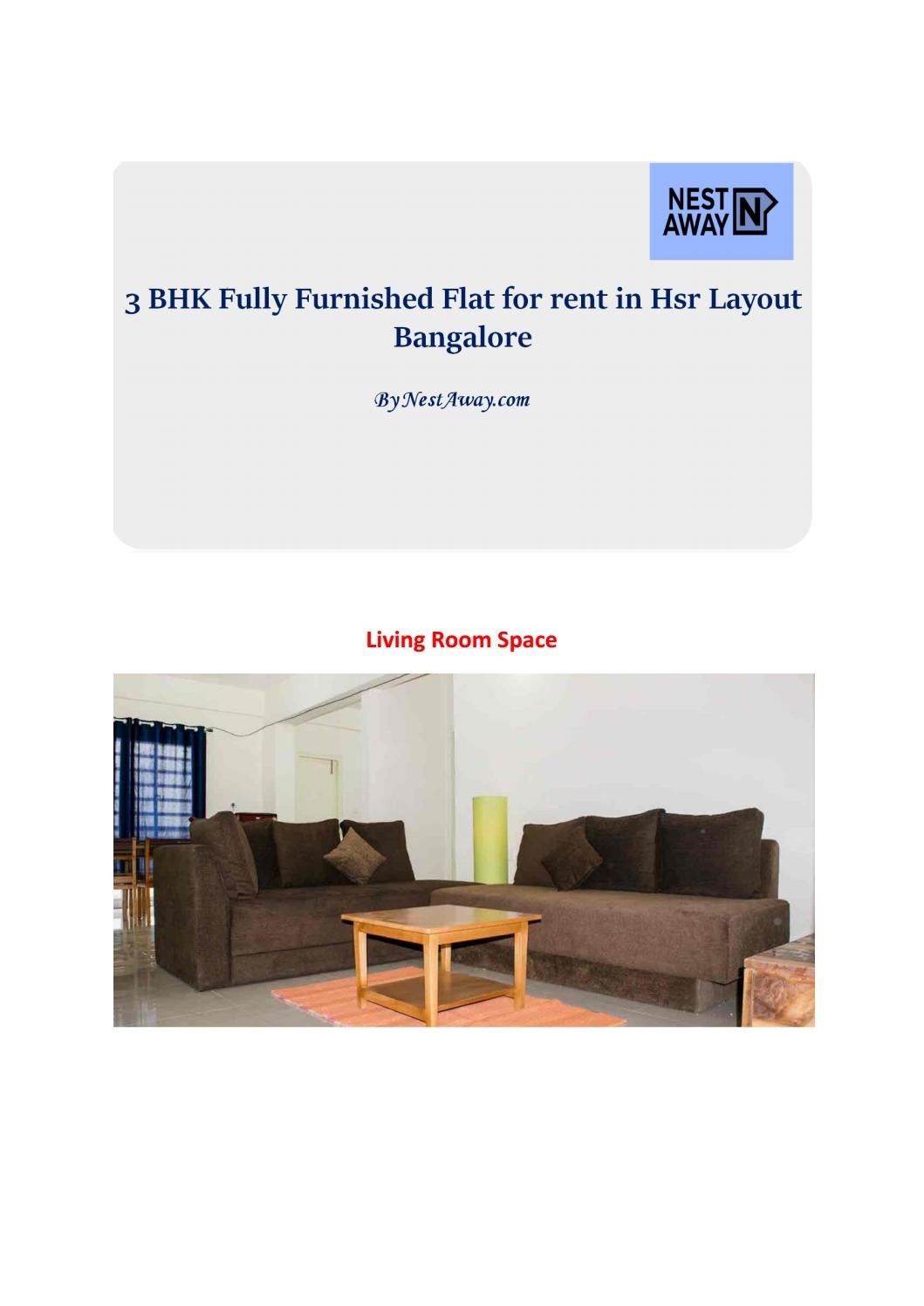 3 Bhk Fully Furnished Flat For Rent In Hsr Layout Bangalore By Nestaway Issuu