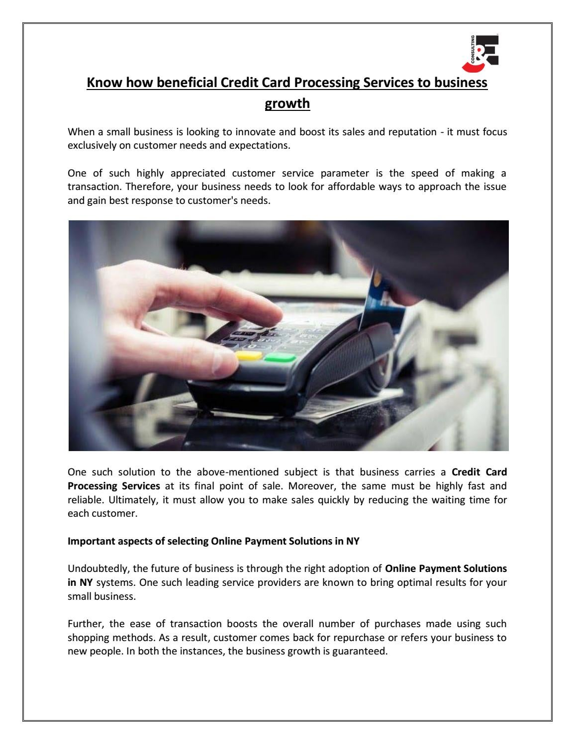 Know How Beneficial Credit Card Processing Services To Business Growth By J E Business Consulting Llc Issuu