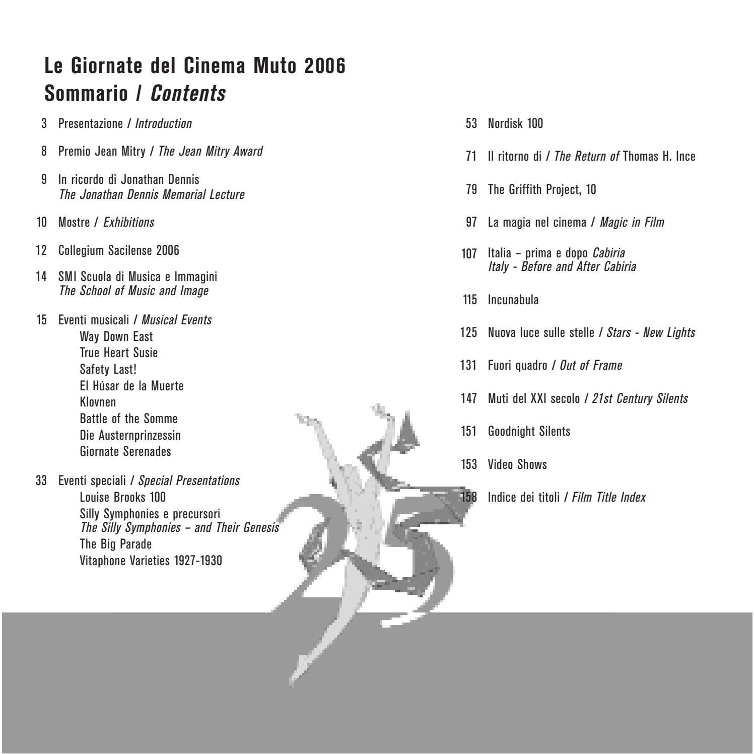 Le Giornate Del Cinema Muto Catalogo 2006 By Aficfestival Issuu
