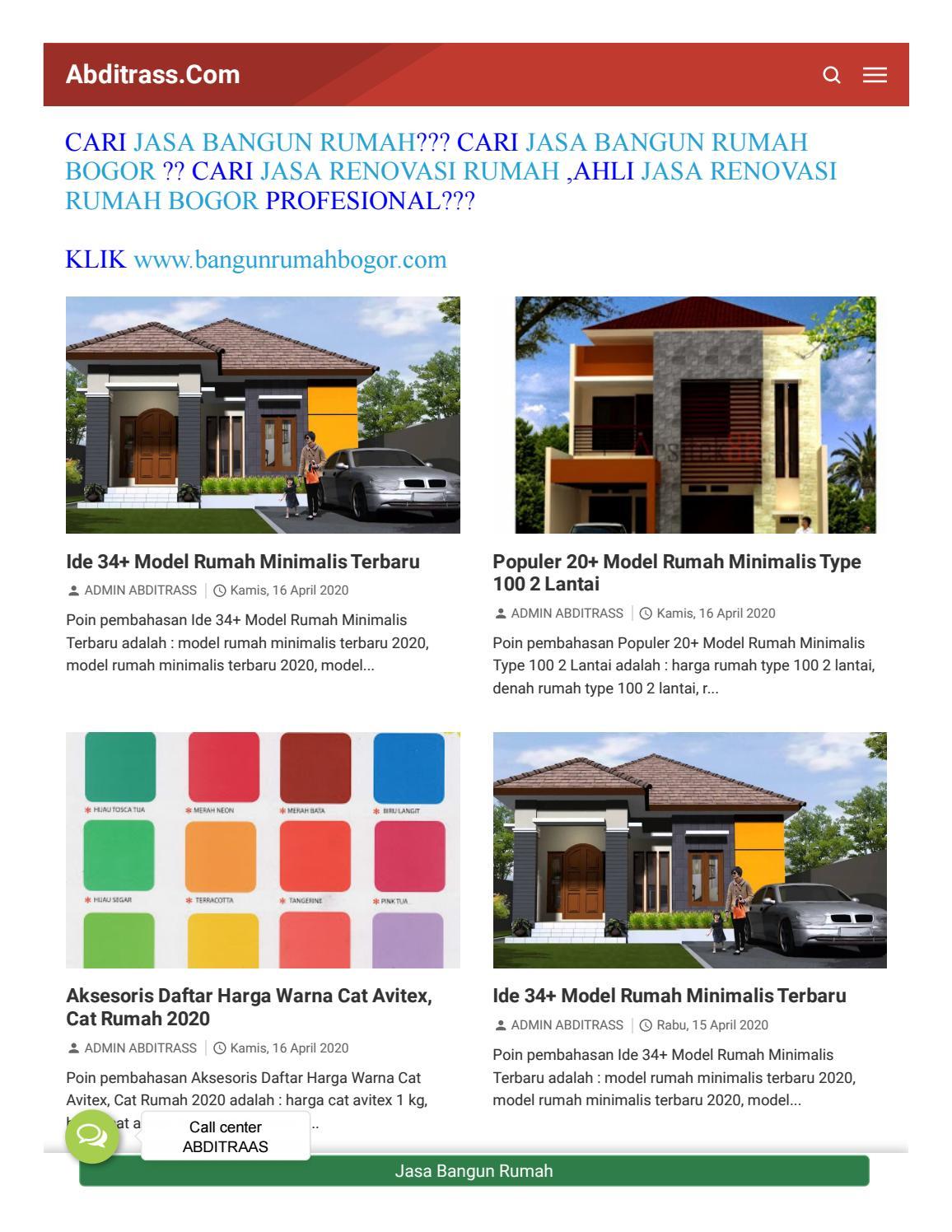 CV ABDITRASS APLIKATOR Jasa Bangun Rumah dari nol di Bogor by ...
