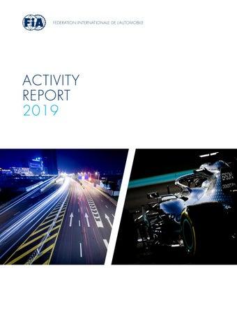 Fia Activity Report 2019 By Federation Internationale De L