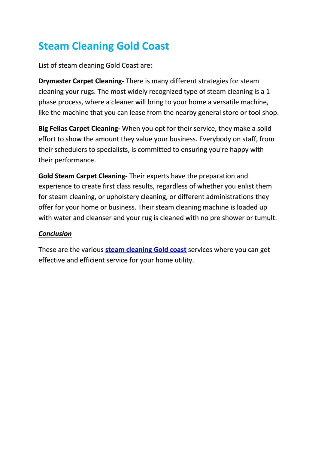 Steam Cleaning Gold Coast by ozclean01 ...
