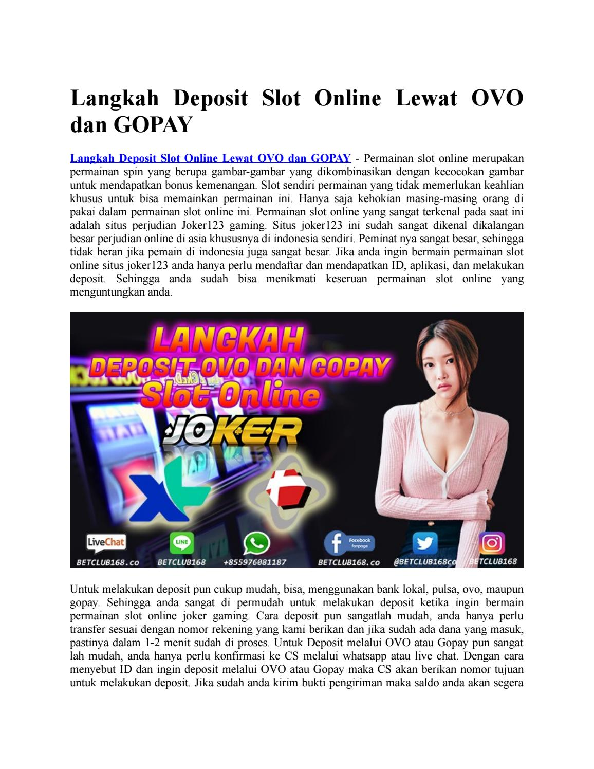 Langkah Deposit Slot Online Lewat Ovo Dan Gopay By Haruvani67465 Issuu