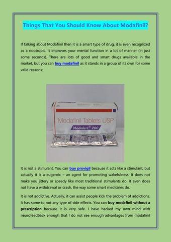 Modafinil lek vs