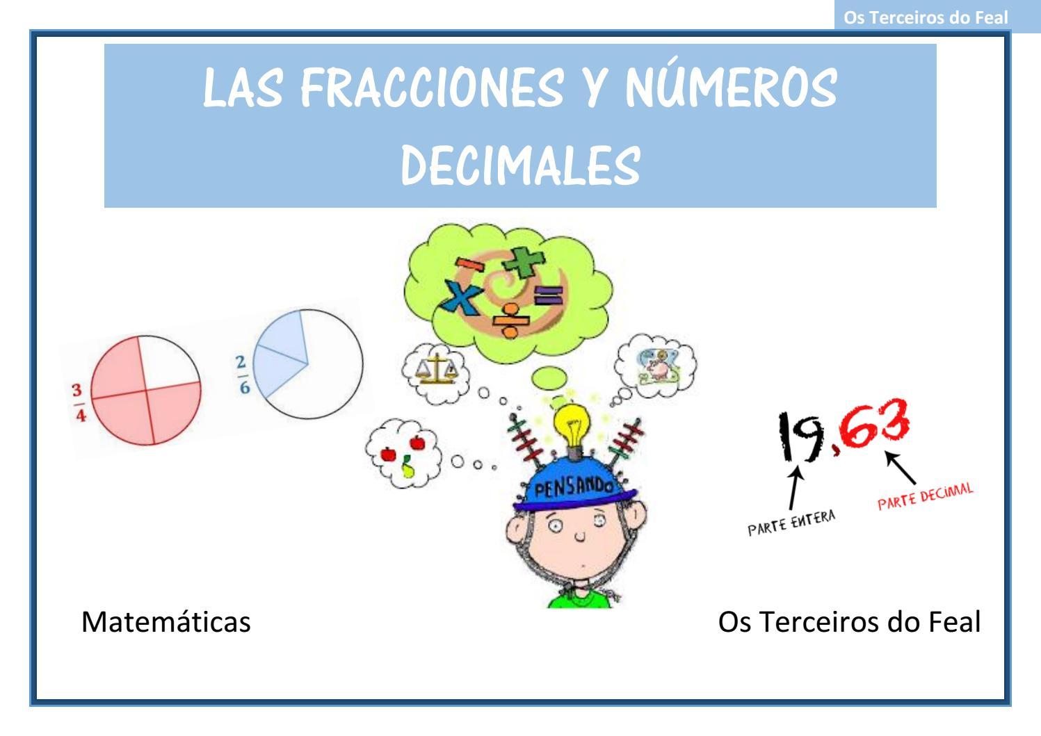 Fracciones Y Decimales By Cuartodofeal Issuu
