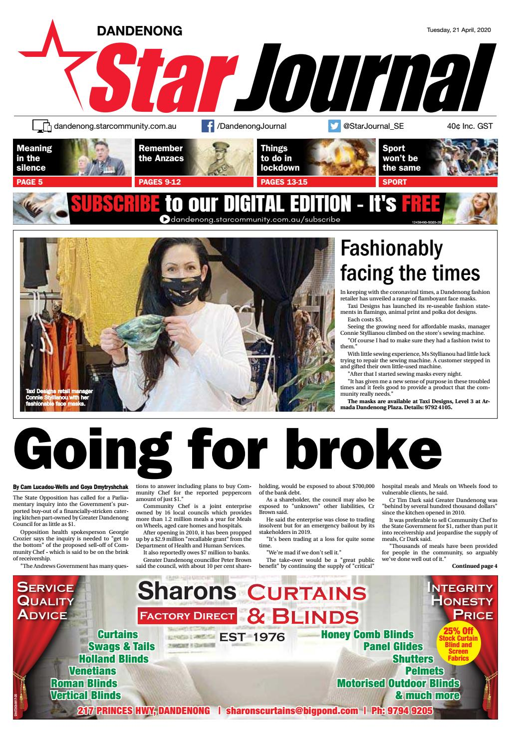 Dandenong Star Journal 21st April 2020 By Star News Group Issuu