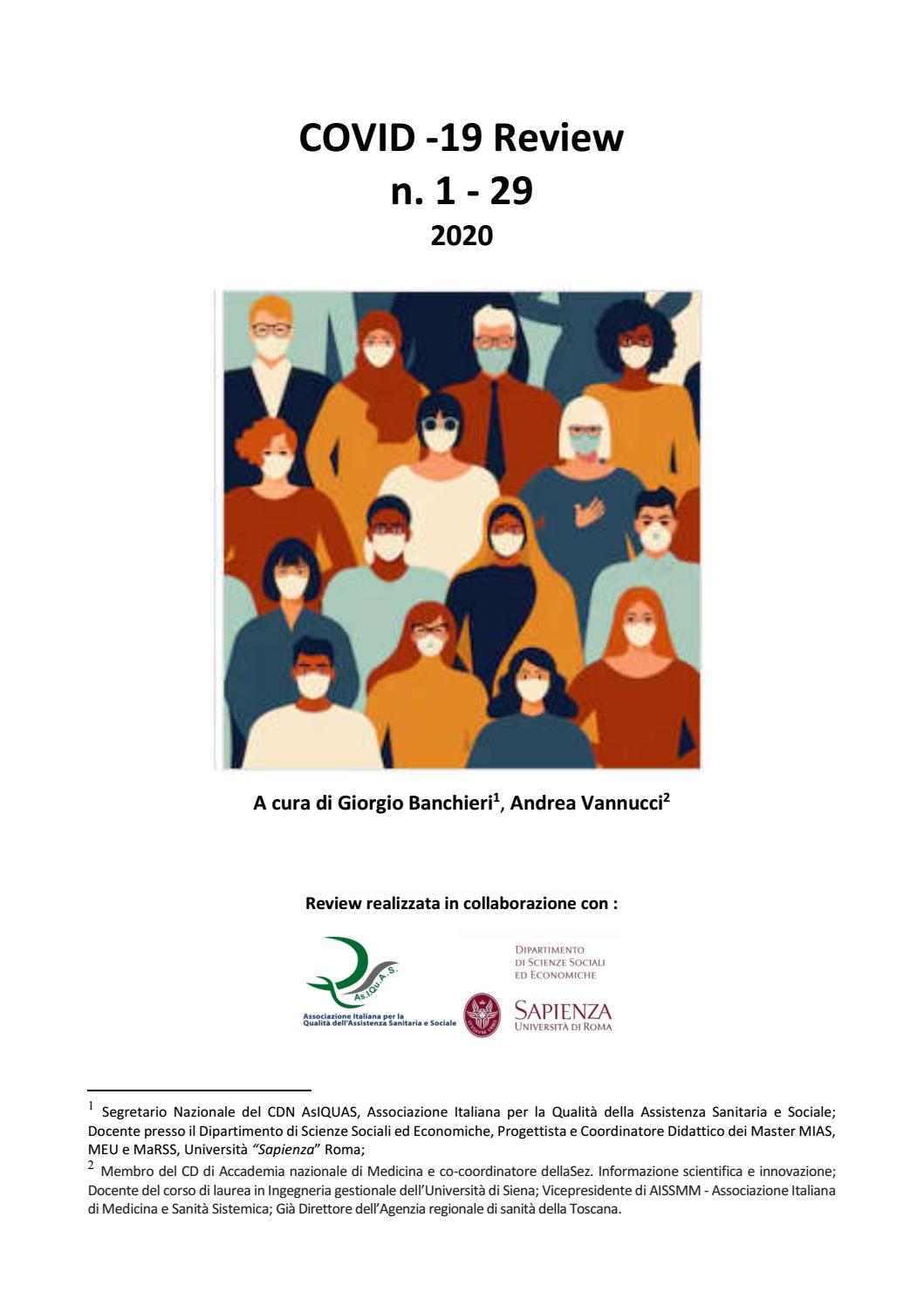 Covid19 Review Parte 1 From Prof Giorgio Banchieri E Andrea Vannucci By Com Publishing And Communication Issuu