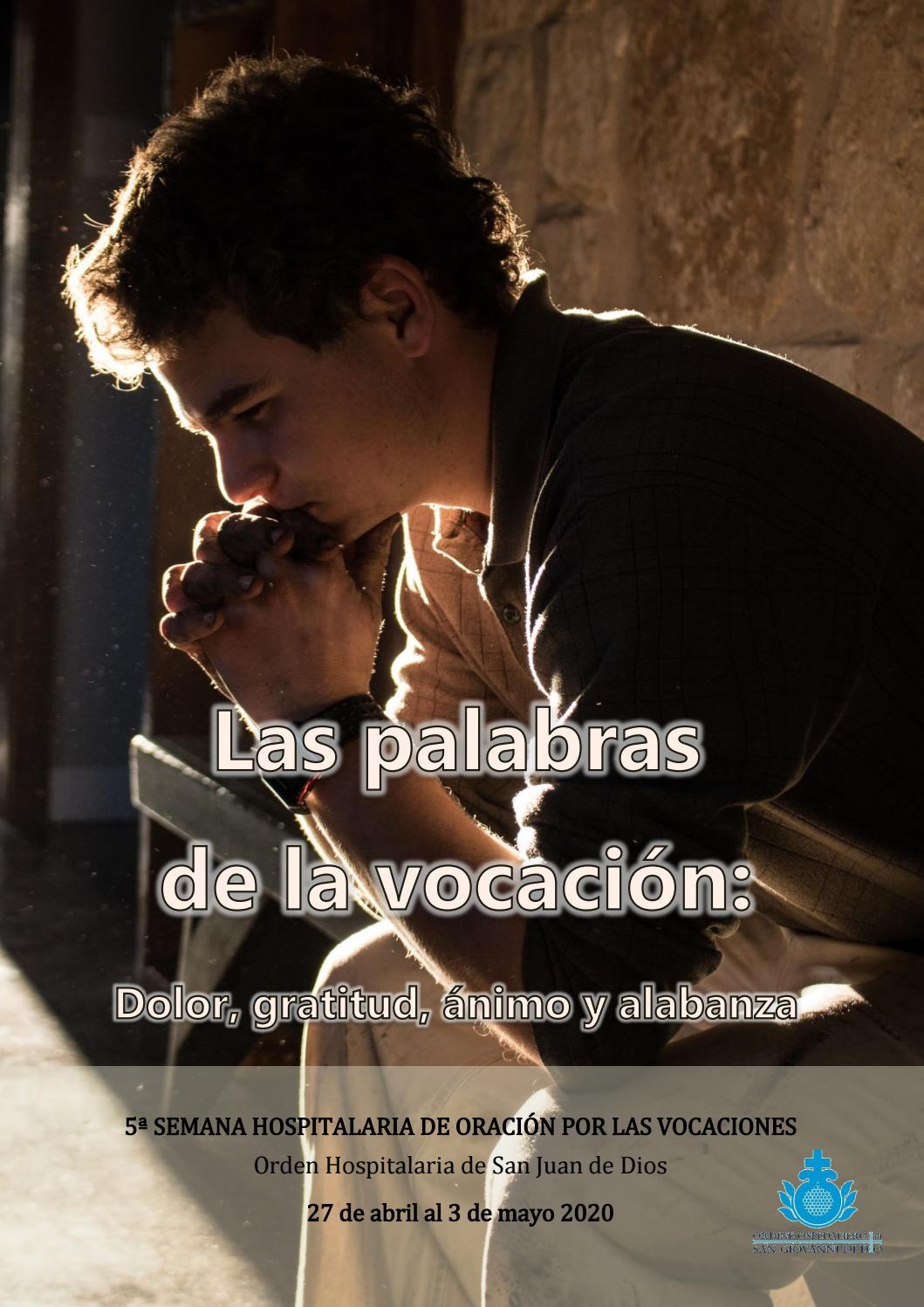 V Semana Hospitalaria De Oración Por Las Vocaciones 2020 By Jovenes San Juan De Dios Issuu