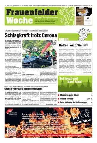 Frauenfelder Woche, Ausgabe KW 18, 29. April 2020 by