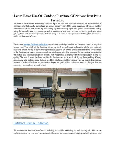 Learn Basic Use Of Outdoor Furniture Of Arizona Iron Patio Furniture By Arizonafurniture85 Issuu