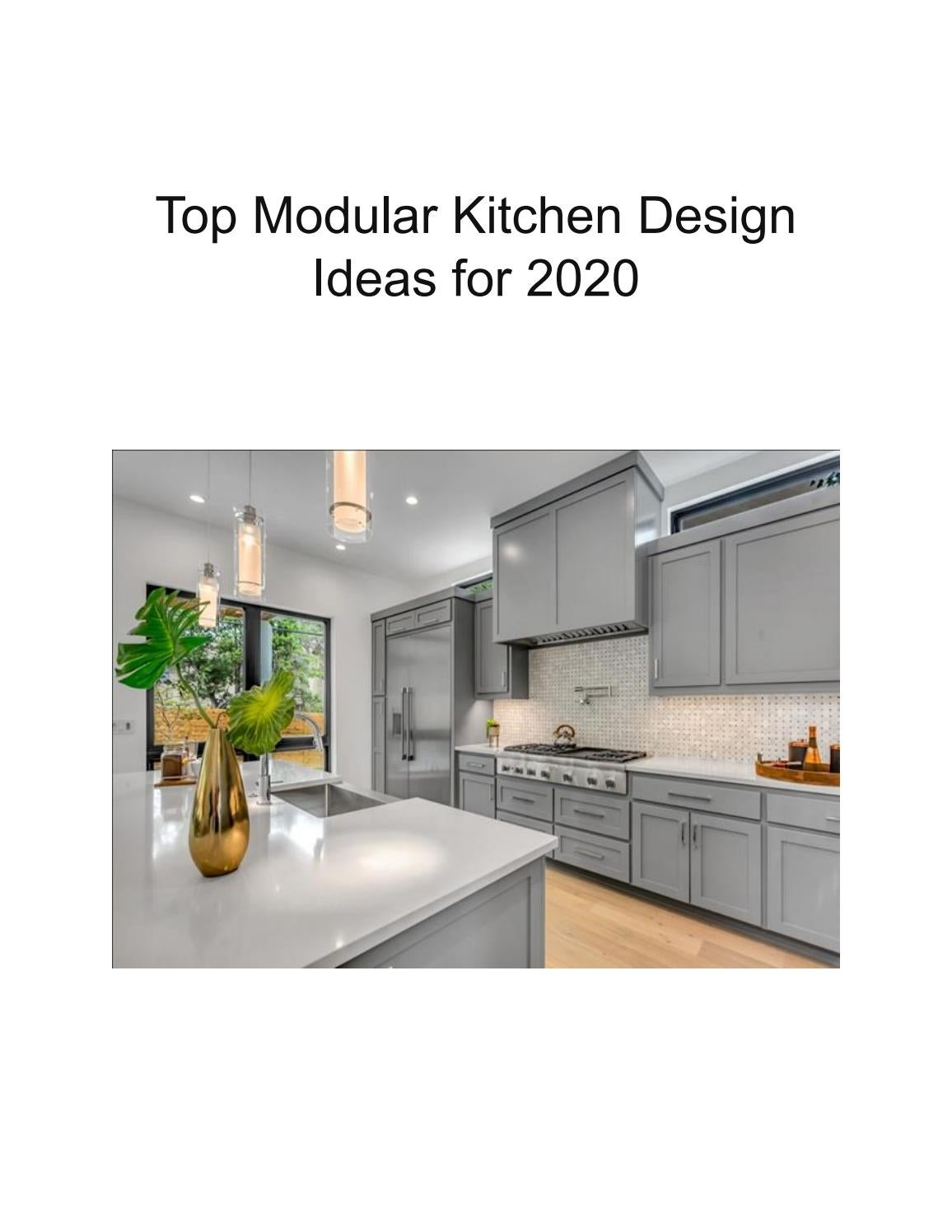 Top Modular Kitchen Design Ideas for 2020 by Build Supply ...