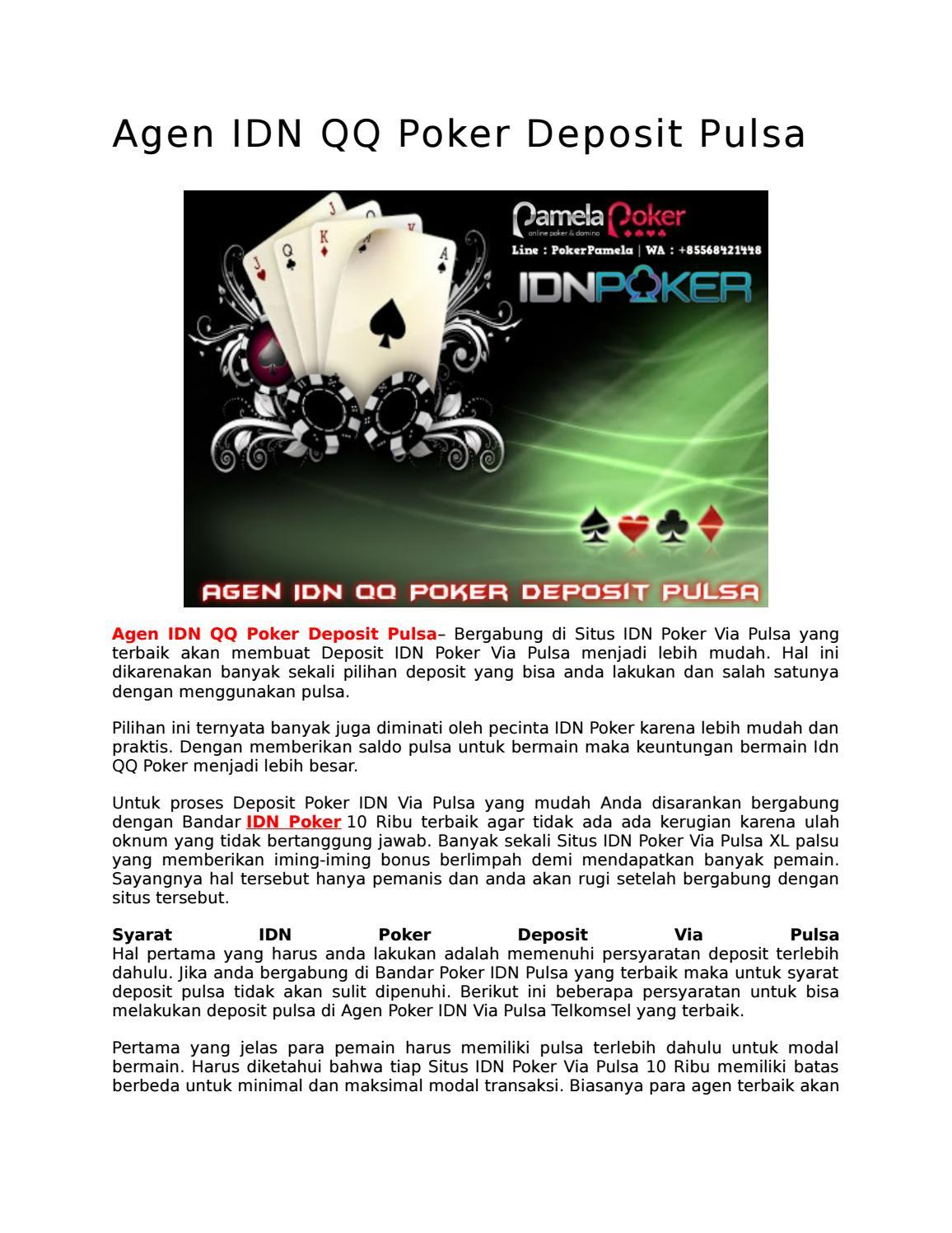 Agen Idn Qq Poker Deposit Pulsa Pokerpamela Com By Pokerpamelaa Issuu