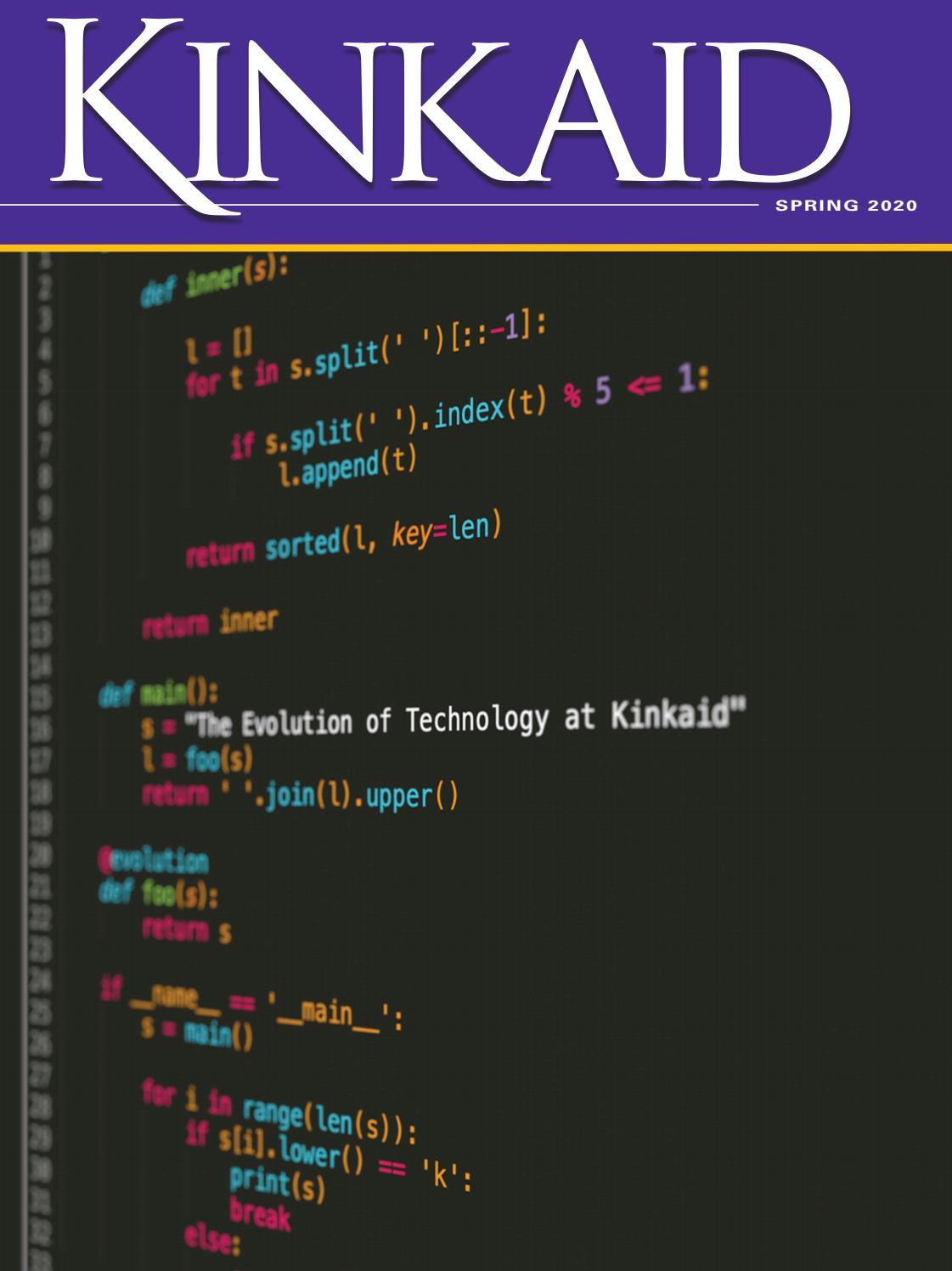Kinkaid Magazine Spring 2020 By The Kinkaid School Issuu