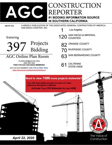 Agc Construction Reporter April 22 2020 By Agc San Diego Chapter Issuu