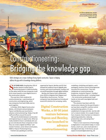 Constructioneering: Bridging the knowledge gap