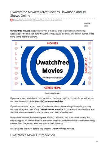Uwatchfree Movies Latest Movies Download And Tv Shows Online By Raja Kashyap Issuu