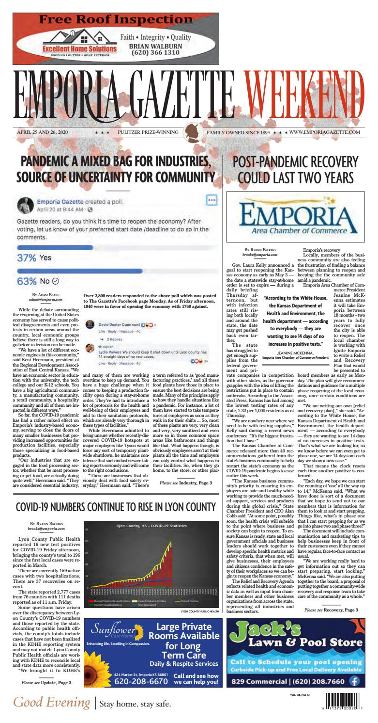 Emporia Gazette Issue 4 25 2020 By The Emporia Gazette Issuu