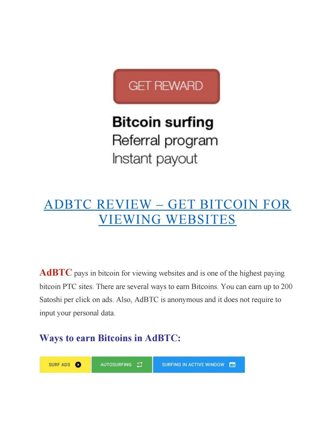 Moneda viitorului: Bitcoin gratis pentru vizualizarea site-urilor web
