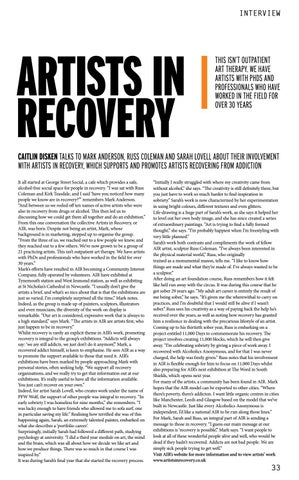 Page 33 of ARTISTS IN RECOVERY