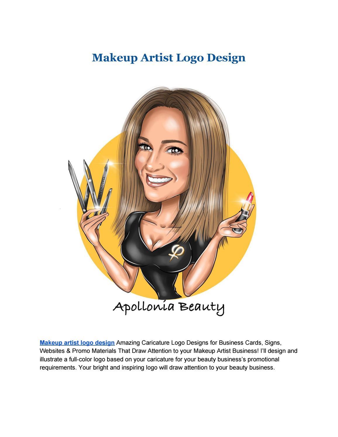 Makeup Artist Logo Design By Portraitlogo Issuu