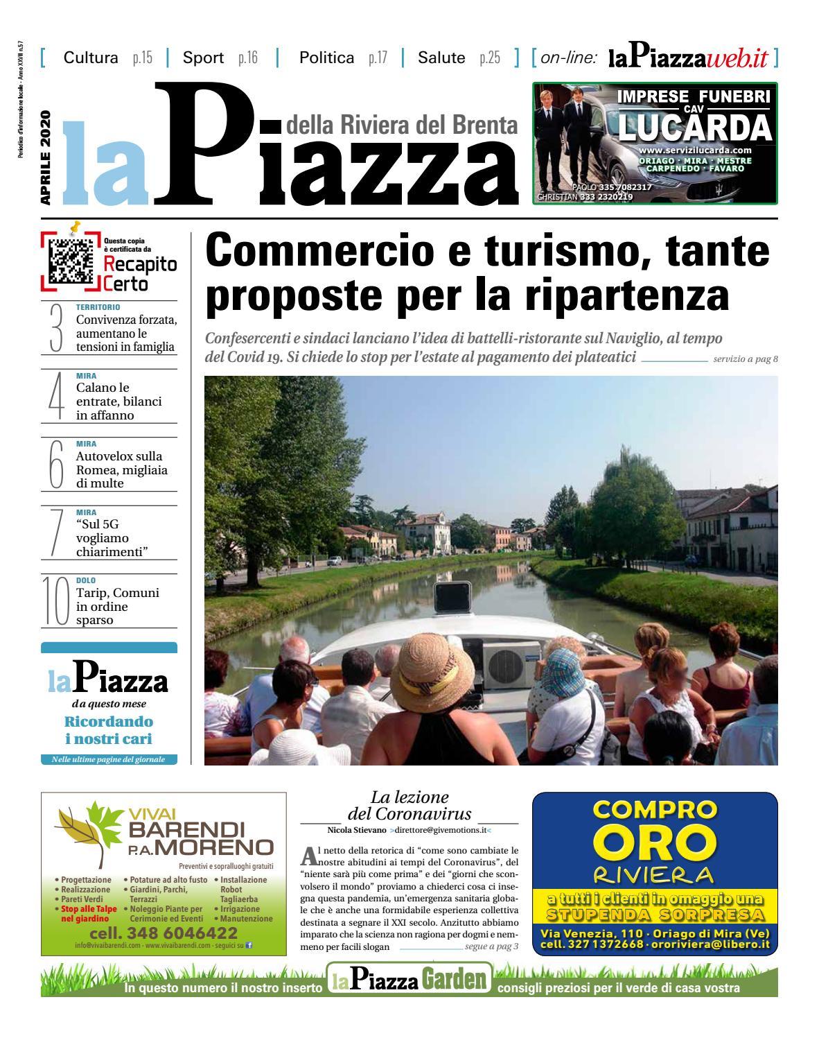 La Piazza Della Riviera Del Brenta Apr2020 N57 By Lapiazza Give Emotions Issuu