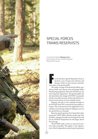 Page 45 of SPECIAL FORCES TRAINS RESERVISTS Lieutenant Colonel Margus Kuul