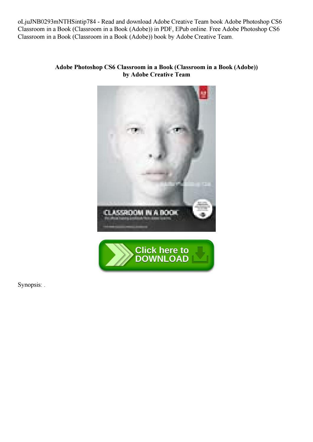 adobe photoshop cs6 classroom in a book free pdf