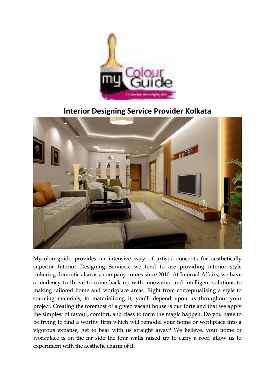 Best And Affordable Interior Design Services In Kolkata By Mycolourguide Issuu