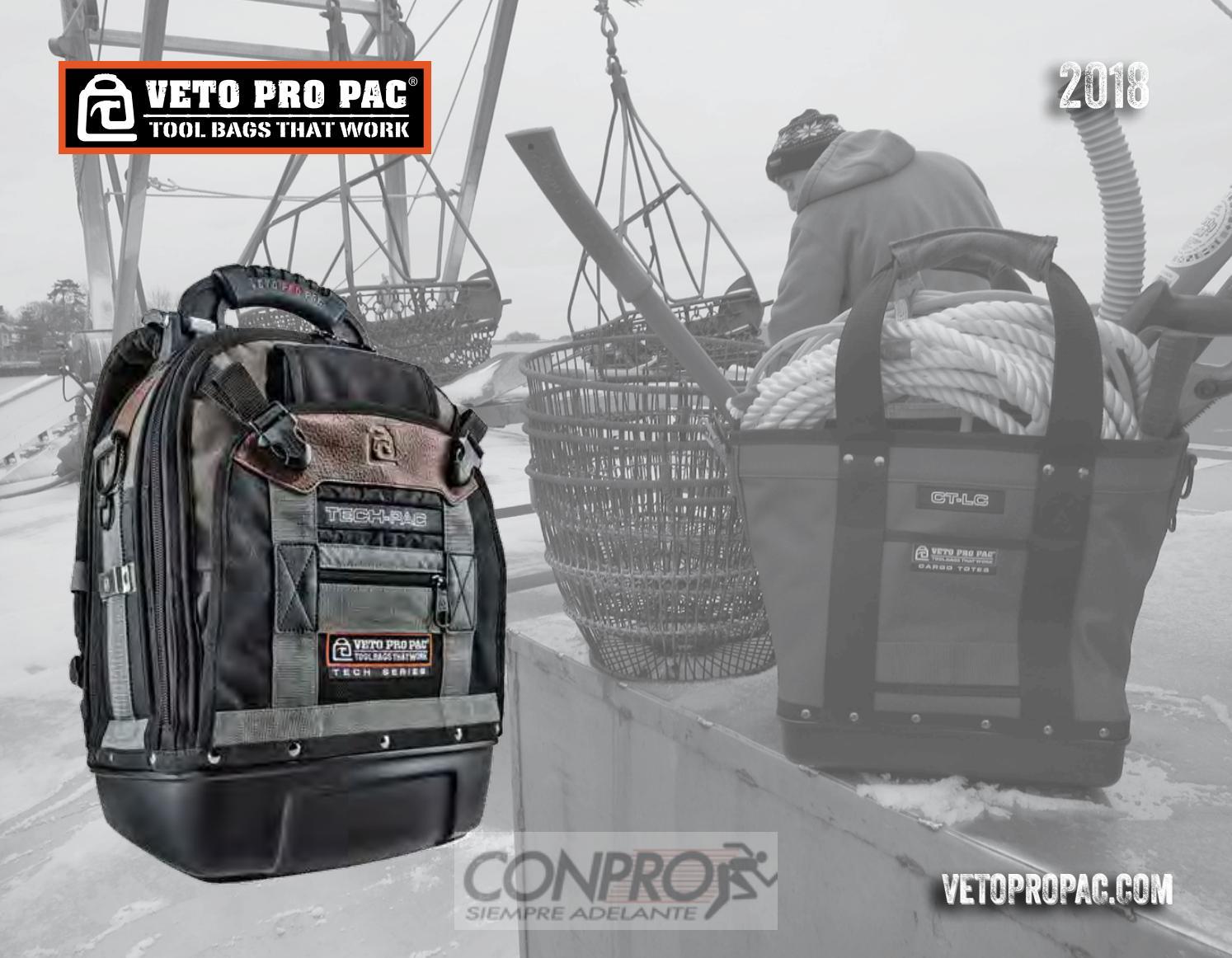 VETO PRO PAC TECH XL TOUGH TOOL BAG 14 NEOPRENE POCKETS 80 TIERED POCKETS
