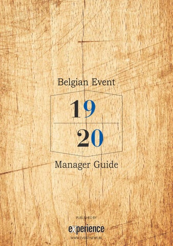 Belgian Event Manager Guide 2020 By Leo Bvba Issuu