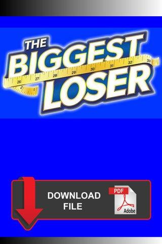 The Biggest Loser Tv 1 Week Diet Plan Ebook Pdf By Dr Miguel Romero Issuu