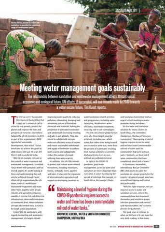 Meeting water management goals sustainably