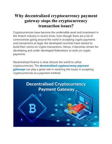 payment gateway cryptocurrency